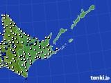 道東のアメダス実況(風向・風速)(2019年06月11日)