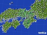 2019年06月13日の近畿地方のアメダス(風向・風速)