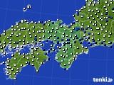 2019年06月14日の近畿地方のアメダス(風向・風速)