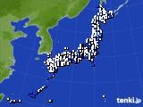 2019年06月14日のアメダス(風向・風速)