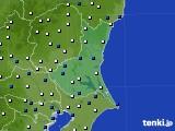 2019年06月14日の茨城県のアメダス(風向・風速)
