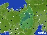2019年06月16日の滋賀県のアメダス(風向・風速)