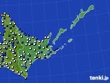 2019年06月16日の道東のアメダス(風向・風速)