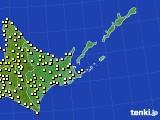 道東のアメダス実況(気温)(2019年06月18日)