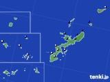 沖縄県のアメダス実況(降水量)(2019年06月20日)
