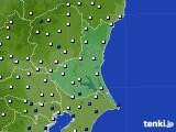 2019年06月21日の茨城県のアメダス(風向・風速)