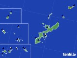 2019年06月21日の沖縄県のアメダス(風向・風速)