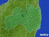 福島県のアメダス実況(気温)(2019年06月23日)
