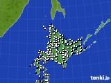 北海道地方のアメダス実況(風向・風速)(2019年06月23日)