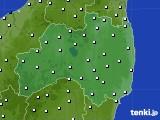 福島県のアメダス実況(風向・風速)(2019年06月23日)