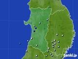 2019年06月24日の秋田県のアメダス(降水量)