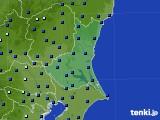 茨城県のアメダス実況(日照時間)(2019年06月24日)