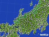 北陸地方のアメダス実況(風向・風速)(2019年06月24日)