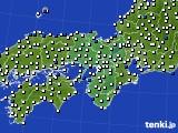 2019年06月25日の近畿地方のアメダス(風向・風速)