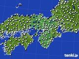 2019年06月27日の近畿地方のアメダス(風向・風速)
