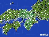 2019年06月30日の近畿地方のアメダス(風向・風速)