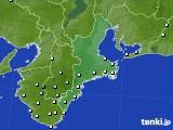 三重県のアメダス実況(降水量)(2019年07月01日)