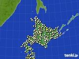 北海道地方のアメダス実況(気温)(2019年07月01日)
