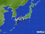 アメダス実況(降水量)(2019年07月03日)