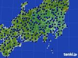 関東・甲信地方のアメダス実況(日照時間)(2019年07月03日)