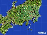 関東・甲信地方のアメダス実況(気温)(2019年07月03日)