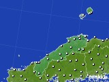 島根県のアメダス実況(風向・風速)(2019年07月03日)