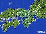 2019年07月05日の近畿地方のアメダス(風向・風速)