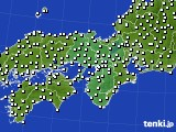 2019年07月13日の近畿地方のアメダス(風向・風速)