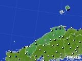 島根県のアメダス実況(風向・風速)(2019年07月15日)
