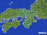 2019年07月29日の近畿地方のアメダス(風向・風速)