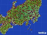 関東・甲信地方のアメダス実況(気温)(2019年08月05日)