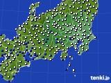 関東・甲信地方のアメダス実況(風向・風速)(2019年08月05日)