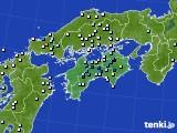 四国地方のアメダス実況(降水量)(2019年08月06日)