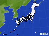 アメダス実況(風向・風速)(2019年08月06日)