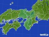 近畿地方のアメダス実況(降水量)(2019年08月07日)