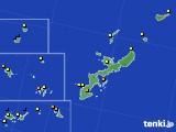 沖縄県のアメダス実況(風向・風速)(2019年08月08日)