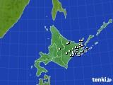 北海道地方のアメダス実況(降水量)(2019年08月09日)