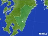 宮崎県のアメダス実況(降水量)(2019年08月09日)