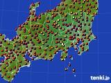 関東・甲信地方のアメダス実況(気温)(2019年08月09日)