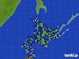 北海道地方のアメダス実況(日照時間)(2019年08月10日)
