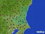 茨城県のアメダス実況(気温)(2019年08月10日)