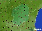 栃木県のアメダス実況(気温)(2019年08月10日)