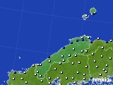 島根県のアメダス実況(風向・風速)(2019年08月10日)