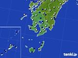 鹿児島県のアメダス実況(風向・風速)(2019年08月10日)