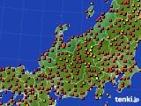 北陸地方のアメダス実況(気温)(2019年08月12日)