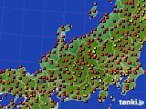 北陸地方のアメダス実況(気温)(2019年08月13日)
