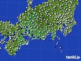 2019年08月13日の東海地方のアメダス(風向・風速)
