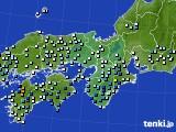 近畿地方のアメダス実況(降水量)(2019年08月15日)
