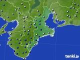 三重県のアメダス実況(降水量)(2019年08月15日)