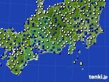2019年08月15日の東海地方のアメダス(風向・風速)